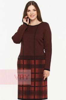 Платье женское 182-2322 Фемина (Черный/кирпичный)