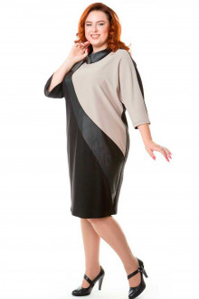 Платье 458 Luxury Plus (Домино кофе)