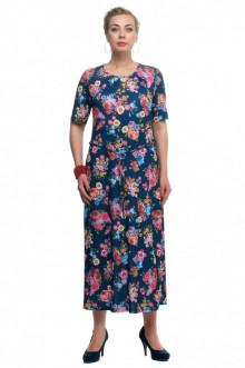 """Платье """"Олси"""" 1605044 ОЛСИ (Синий/цветы)"""